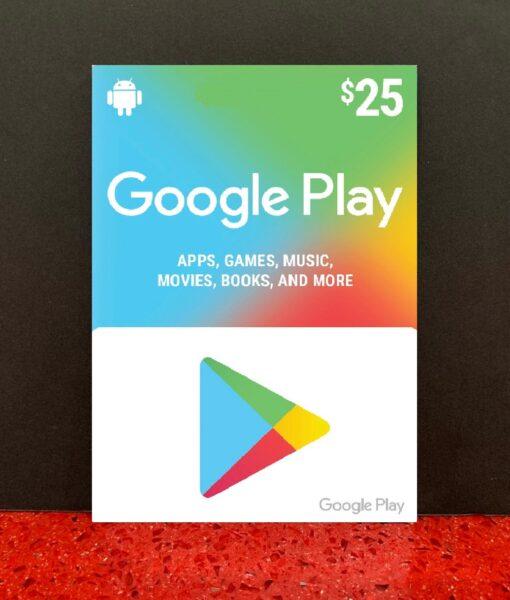 PC item Google Play 25 dolar card