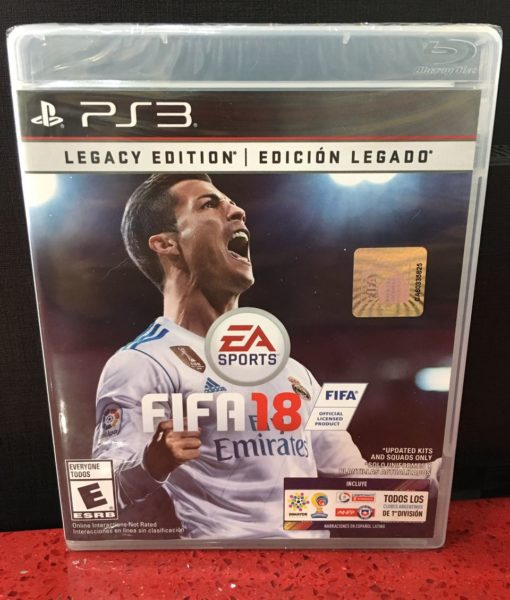 PS3 FIFA 18 game