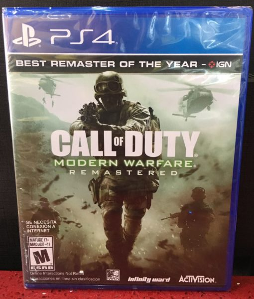 PS4 Call of Duty Modern Warfare Remastered game