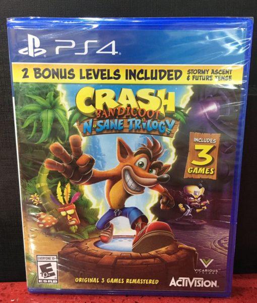 PS4 Crash Bandicoot Insane Trilogy game