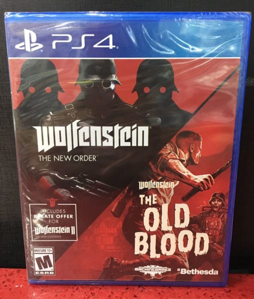 PS4 Wolfenstein New Order Old Blood 2 Pack game