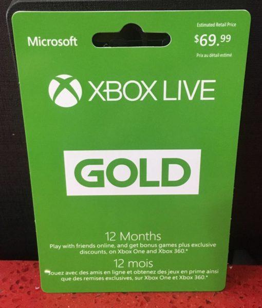 Xone item Tarjeta 12 Meses Membresia Xbox Live
