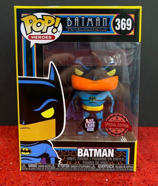 Funko Pop Figure Batman Black Light 369