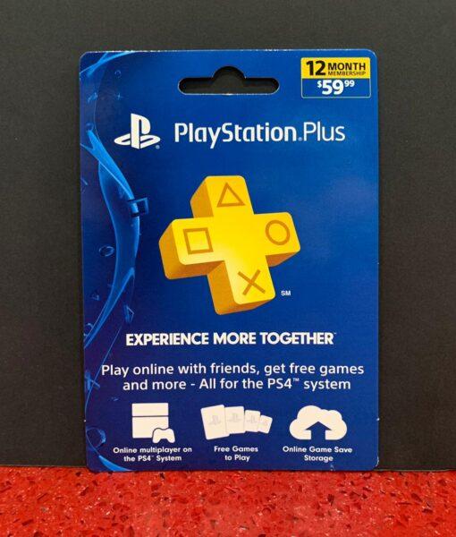 PS4 item tarjeta PSN Plus 12 meses Membresia SONY