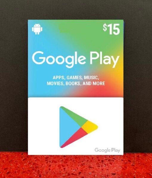 PC item Google Play 15 dolar card