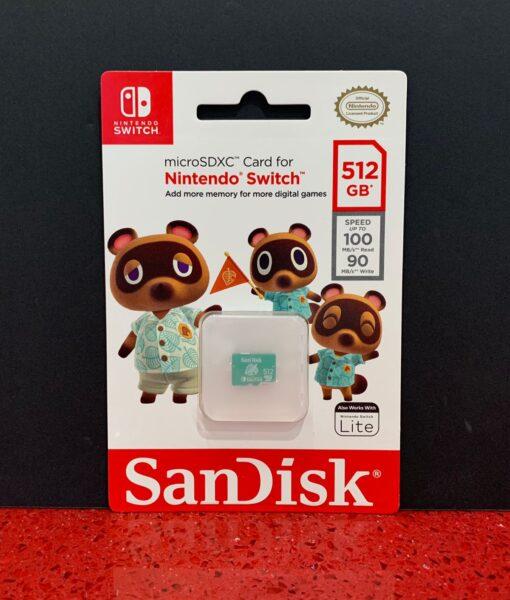 NSW item Memoria SD 512 gb Tom Nook SanDisk